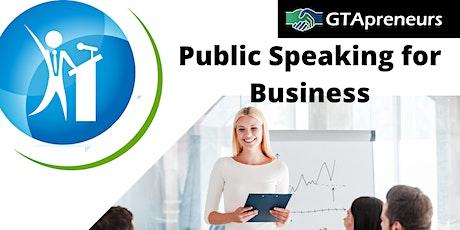 GTApreneurs Public Speaking Course for Business - 8 weeks tickets
