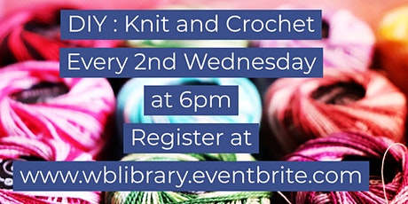 Zoom Craft-Along: Knit and Crochet Night tickets