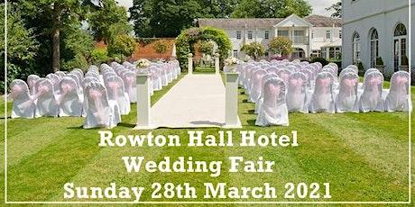 Cheshire Wedding Fayre at Rowton Hall Hotel tickets