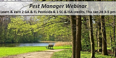 Pest Manager Webinar- Turf Weed Update and Proper Pruning Prevents Problems tickets