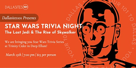 Star Wars Trivia Series (Episodes VIII &  IX) tickets