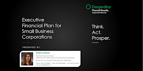 Executive  Financial Plan for Ontario's Small Business Corporations tickets