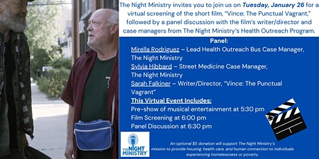 Virtual Screening & Panel - Vince: The Punctual Vagrant tickets