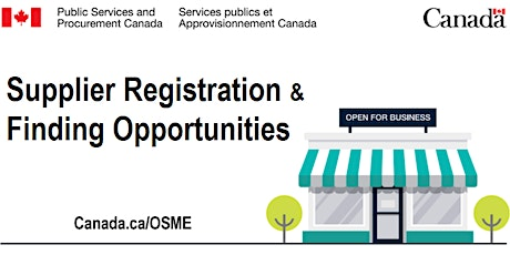 Supplier Registration & Finding Opportunities with the Government of Canada tickets
