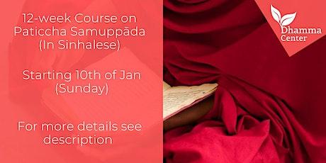 12-week Course on Paticcha Samuppāda (In Sinhalese) tickets