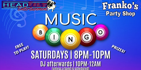 Music Bingo Followed by DJ'ing at Franko's Party Shop! tickets