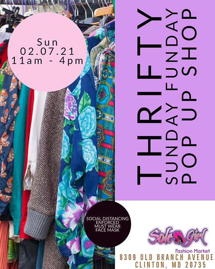 Thrifty Sunday Funday Pop Up Shop image