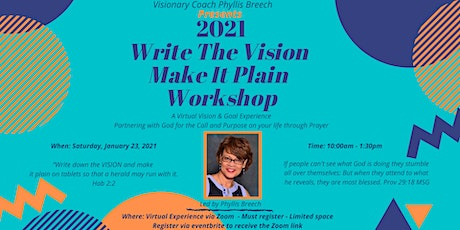 Write The Vision - Make It Plain 2021 Virtual Experience tickets