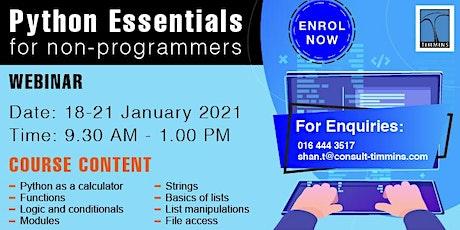 Python Essential Programming tickets