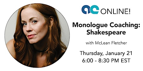 Monologue Coaching: Shakespeare tickets