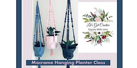 Macrame Hanging Pot Plant Class tickets