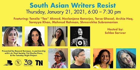 South Asian Writers Resist tickets