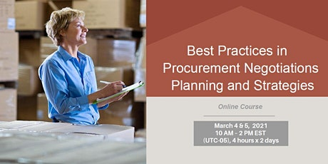 Best Practices in Procurement Negotiations Planning and Strategies tickets