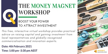 Innovate Queensland's Money Magnet Workshop tickets