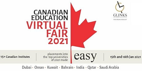 Canadian Education Virtual Fair on 15th and 16th Jan 2021 tickets