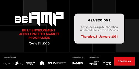 BEAMP Q&A Session 2: Advanced Design & Fabrication tickets