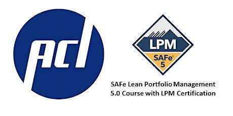 Virtual Lean Portfolio Management Course 5.0.1 with LPM Certification tickets