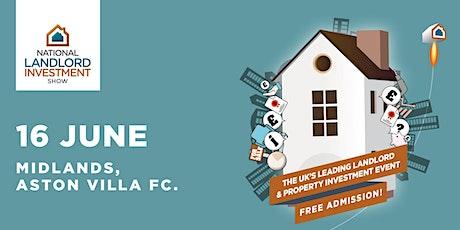 National Landlord Investment Show - Aston Villa Football Club tickets