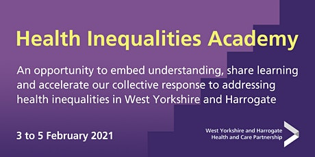 Health Inequalities Academy Launch tickets