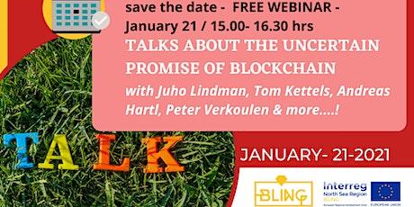 Talks about the uncertain promise of blockchain tickets