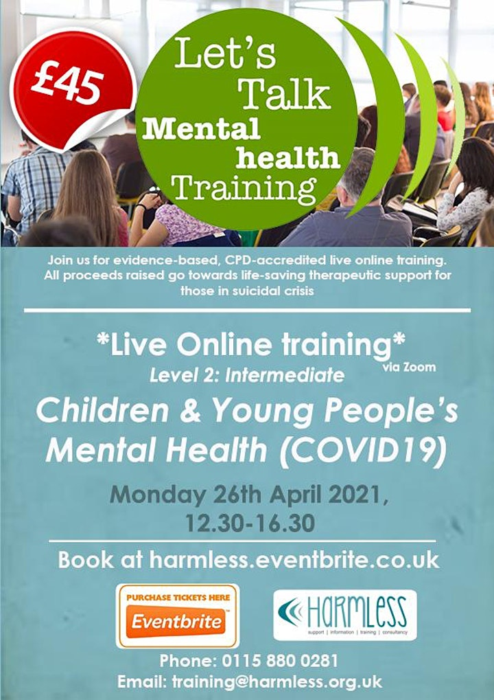 Children & Young People's Mental Health (COVID-19) training image