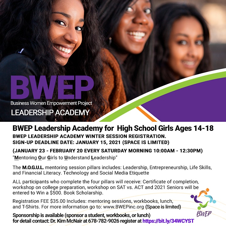 BWEP Leadership Academy for HS Girls  ages 14-18 Winter Session image