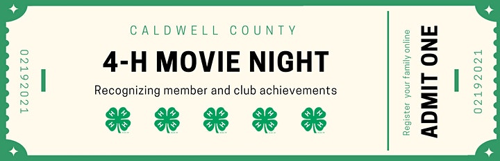 4-H Movie Night: Achievement Celebration image