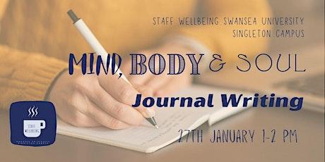 Journal Writing - Mind, Body & Soul tickets