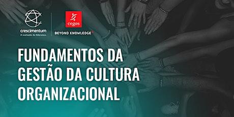 Fundamentos da Gestão da Cultura Organizacional Presencial bilhetes