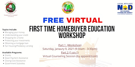 FREE First Time Homebuyer Education Workshop - Virtual tickets