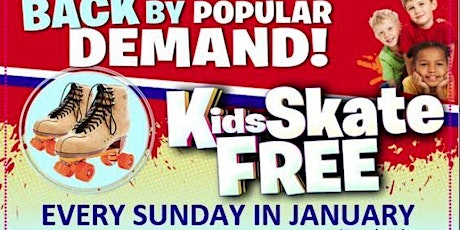Kids Skate FREE with this Ticket - Sunday, January 24 12:00-3:00pm tickets