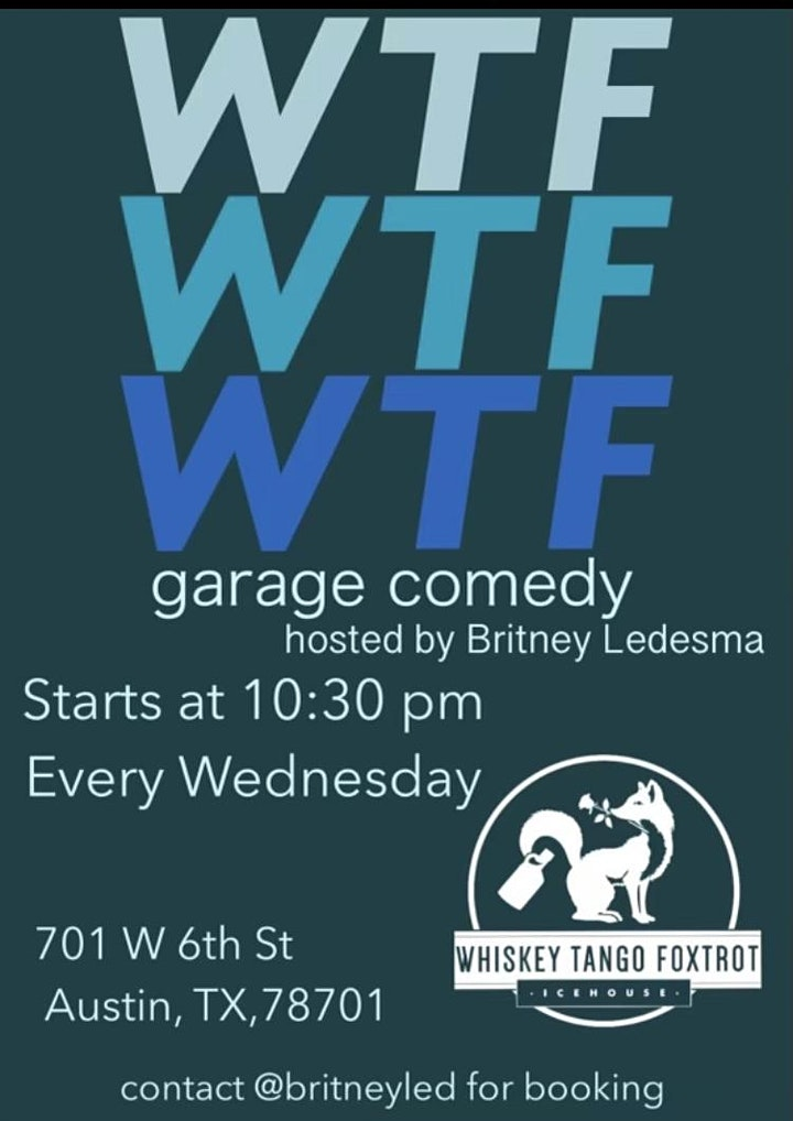 WTF Ice House Garage Comedy image