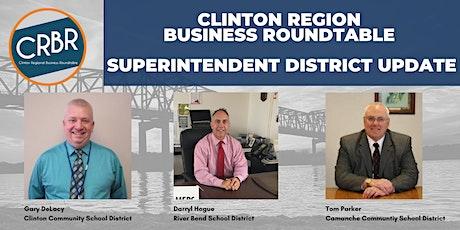 CRMR - District Update w/School Superintendents (Clinton, Fulton, Camanche) tickets
