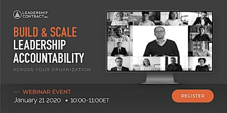 Build & Scale Leadership Accountability - January 2021 tickets