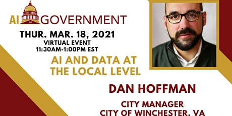 March 2021: AI & Data at the Local Level: Dan Hoffman, City of Winchester tickets
