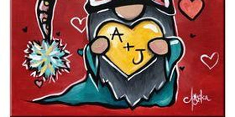 """Blue Dyer Distilling Co., """"Gnome"""" Canvas Painting, Tues., 2/9 at 6:00 p.m. tickets"""