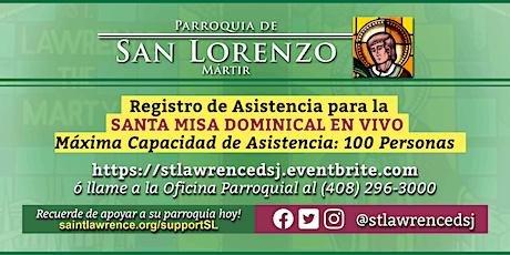 DOMINGO, 17 de Enero 2021 @ 12:30 PM Registración para la Misa  EN VIVO tickets