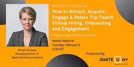 Virtual Hiring, Onboarding and Engagement (Part 3) tickets
