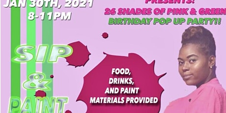 26 Shades of Pink & Green Sip & Paint tickets