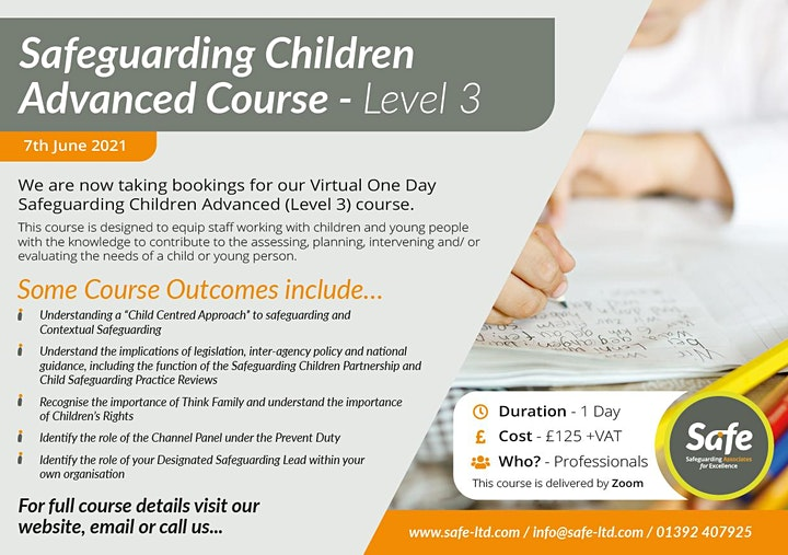 Advanced Safeguarding Children (Level 3) image
