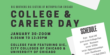 Virtual Career Day and College Fair with Big Brothers Big Sisters tickets
