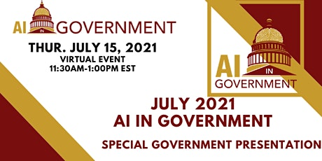 July 2021 AI in Government tickets