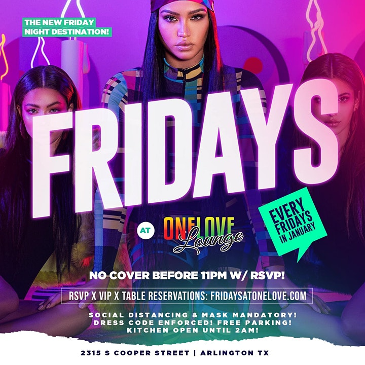 Fridays @ One Love! image