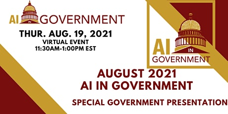 August 2021 AI in Government tickets