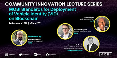 MOBI Community Innovation Lecture on our Vehicle Identity (VID) Standards tickets