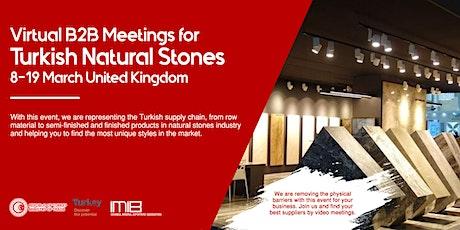 Virtual B2B Meetings for Turkish Natural Stones tickets