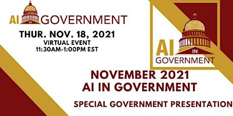 November 2021 AI in Government biglietti