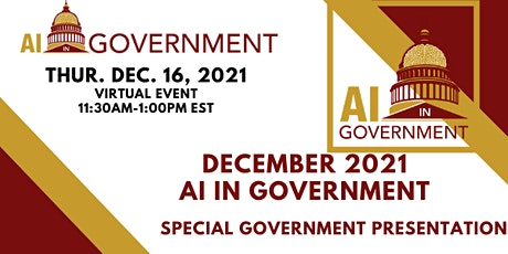 December 2021 AI in Government billets