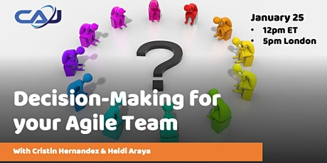 Decision-Making for your Agile Team tickets