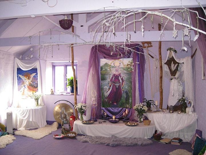 Goddess Temple  Imbolc Ceremony (Online): Flame Maiden Goddess image